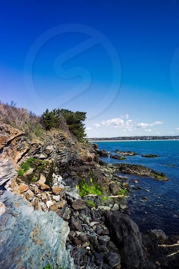 Newport Rhode Island cliff walk  photo