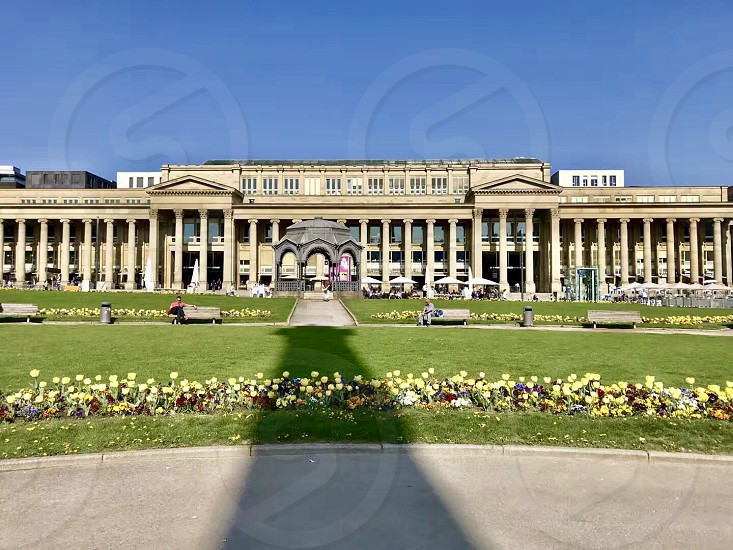 Stuttgart Germany downtown spring day photo