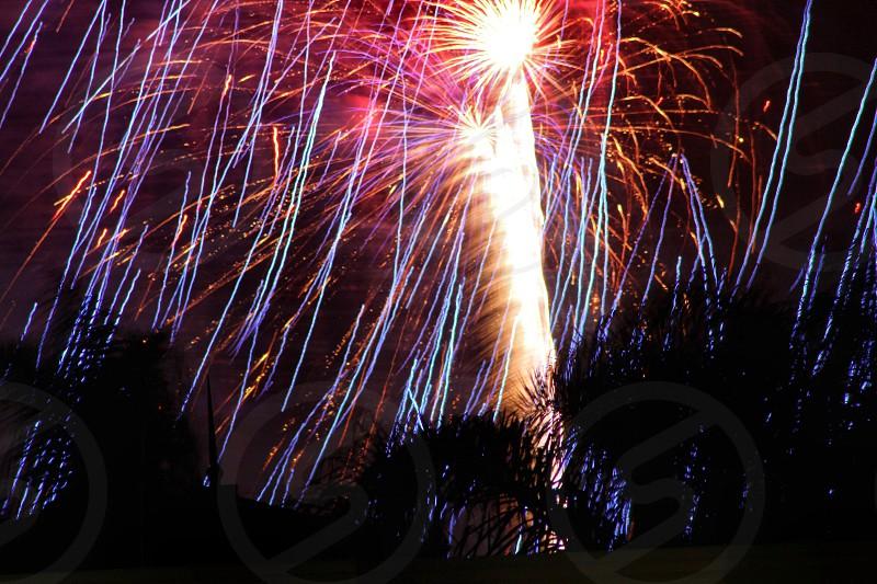 Fireworks fourth July 2016 photo