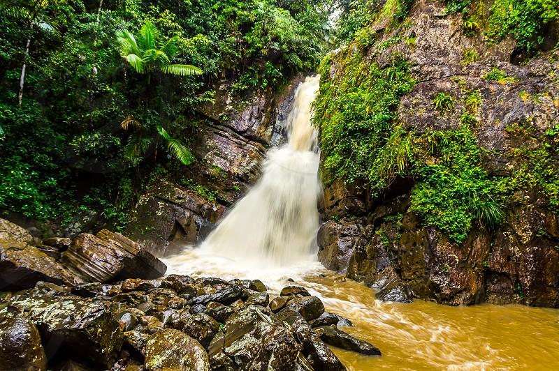 Waterfall in Puerto Rico photo