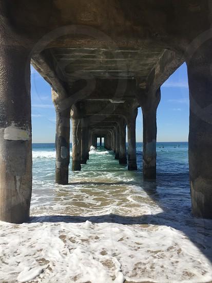 Under the pier California  photo