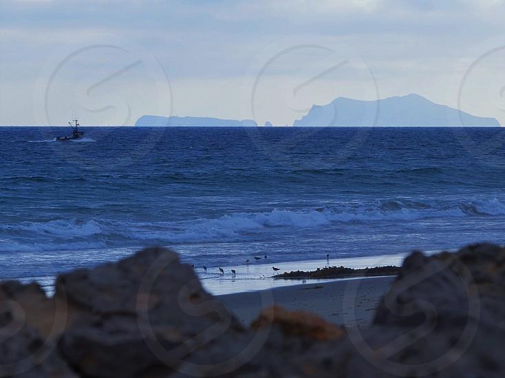 Looking from Point Mugu to Anacapa Island.  photo