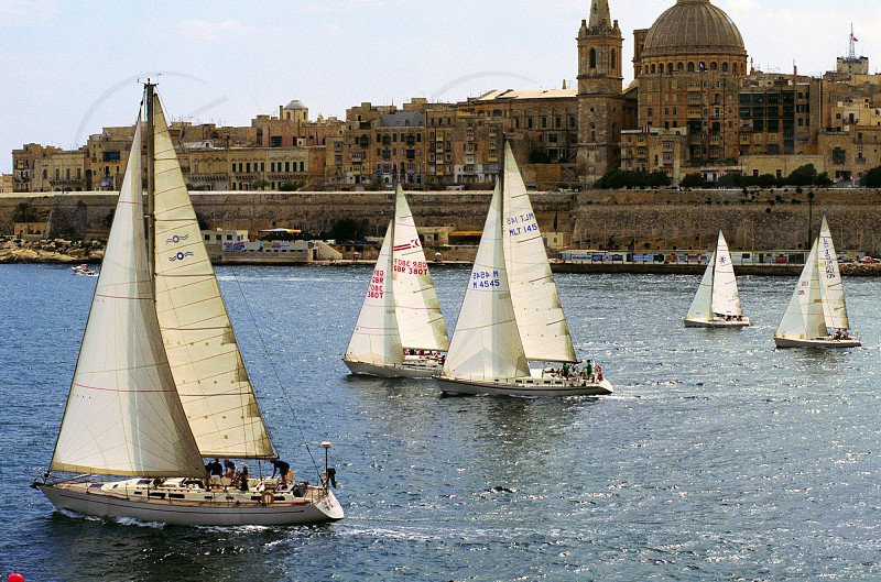 sailing boats Malta photo