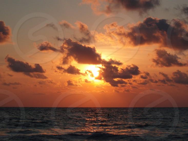 Sunset Beach Warm Tones Water Sun Clouds Tropical Salt Life photo