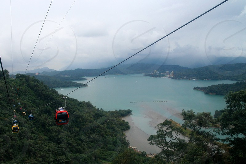 red cable car photo