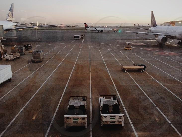 2 airport carts photo