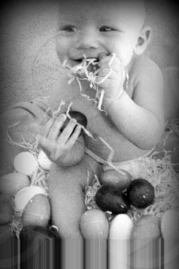 Baby's First Easter. photo