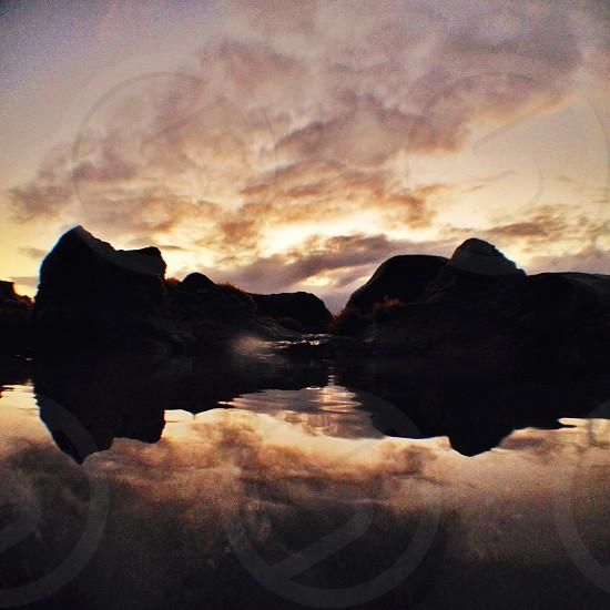 Beach reflection photo