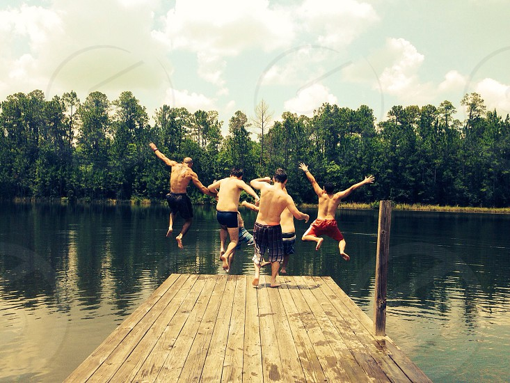 Jumping off the dock lunar effect photo