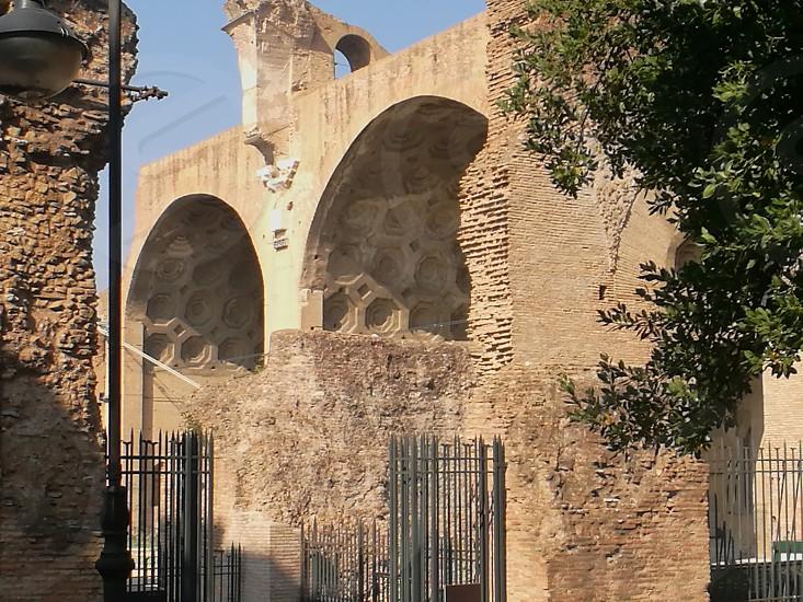 Basilic of Maxentius Rome monument photo
