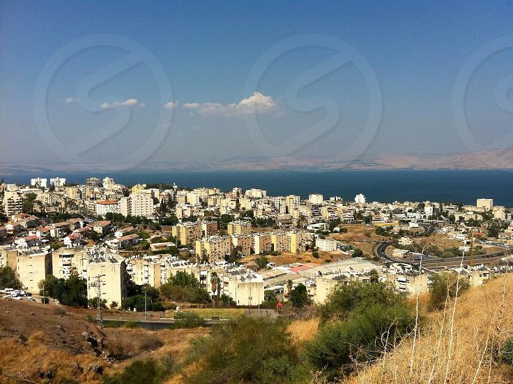 Tiberias Middle East cityscape buildings development Sea of Galilee Israel photo