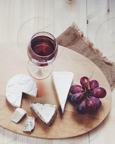 Vine cheese grape many  photo