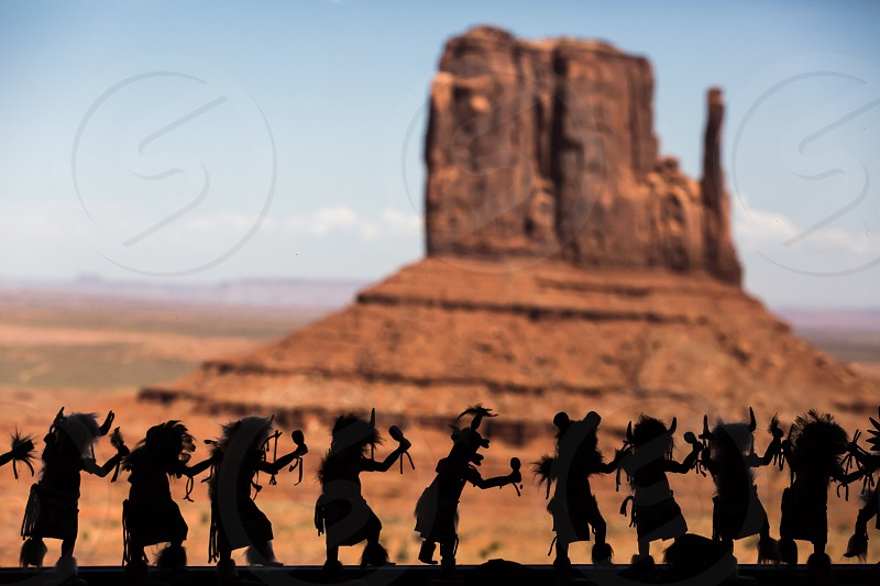 Figure silhouette at the Monument Valley photo