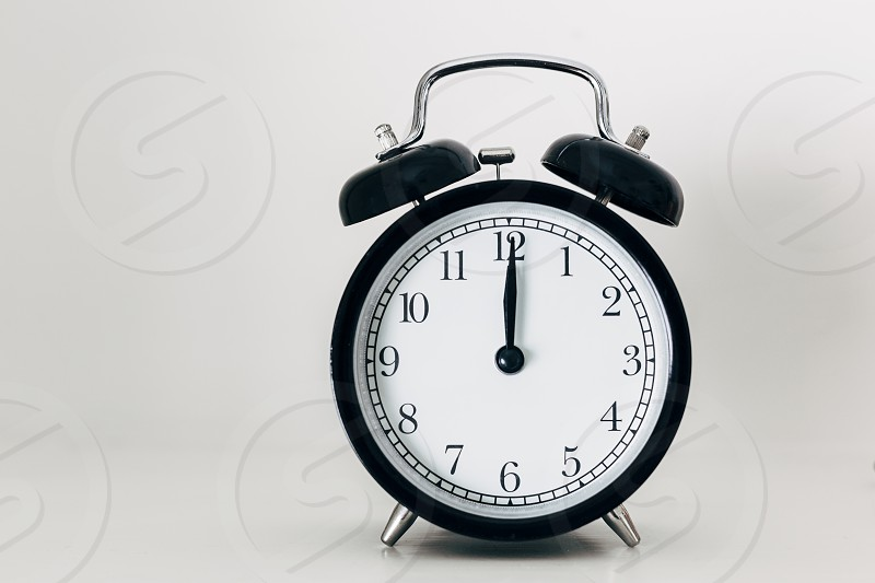 clock alarm clock midnight midday new year's eve new year time photo