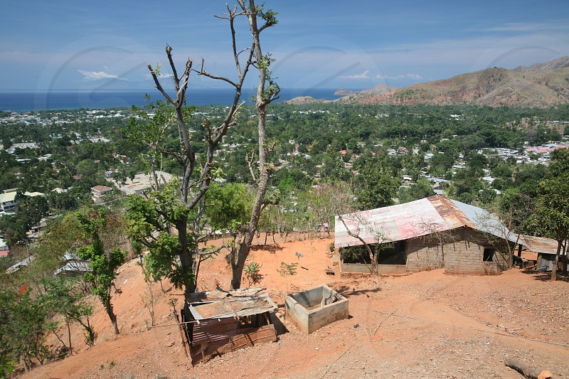 a vilage in the landscape near the city of Dili in the south of East Timor in southeastasia.