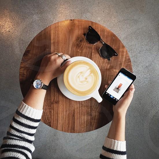 Coffee + Instagram  photo