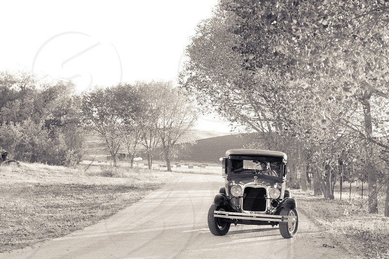Ford Model T Vintage Car; Paso Robles CA Country photo