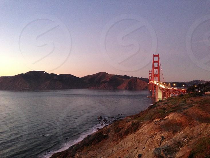 San Francisco Golden Gate Bridge Sunset photo