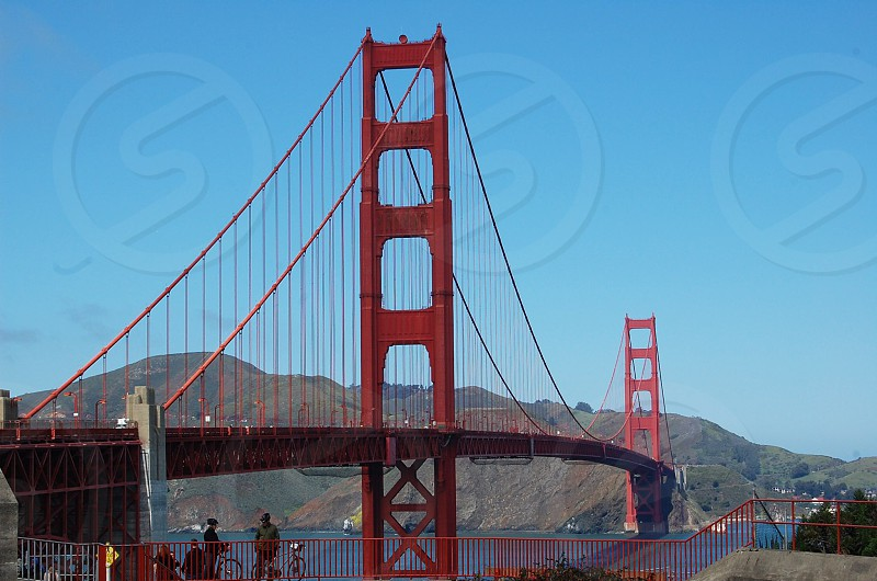 San Francisco bridge ocean Pacific Ocean vacation spots Golden Gate Bridge red  photo