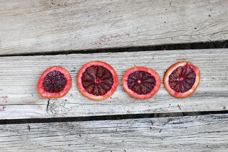 orange and black fruits photo