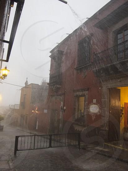 Downpour San Miguel de Allende Mexico photo