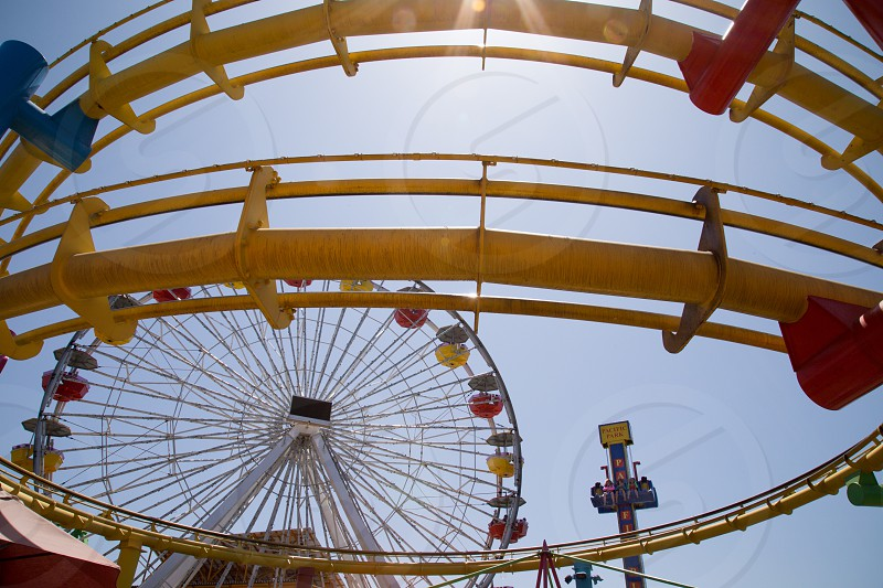 red and yellow ferries wheel photo