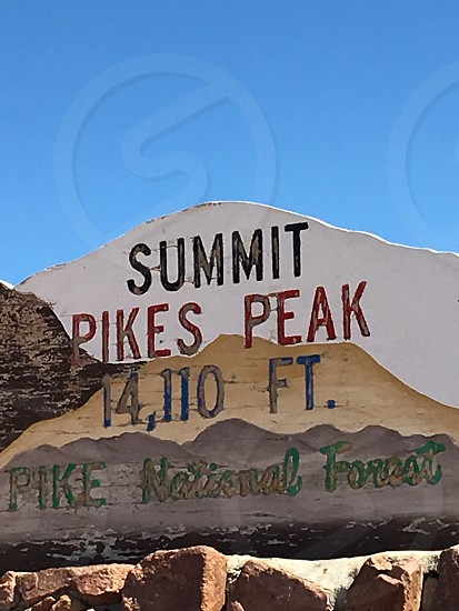 Summit Pikes Peak 14110 FT Pike National Forest photo