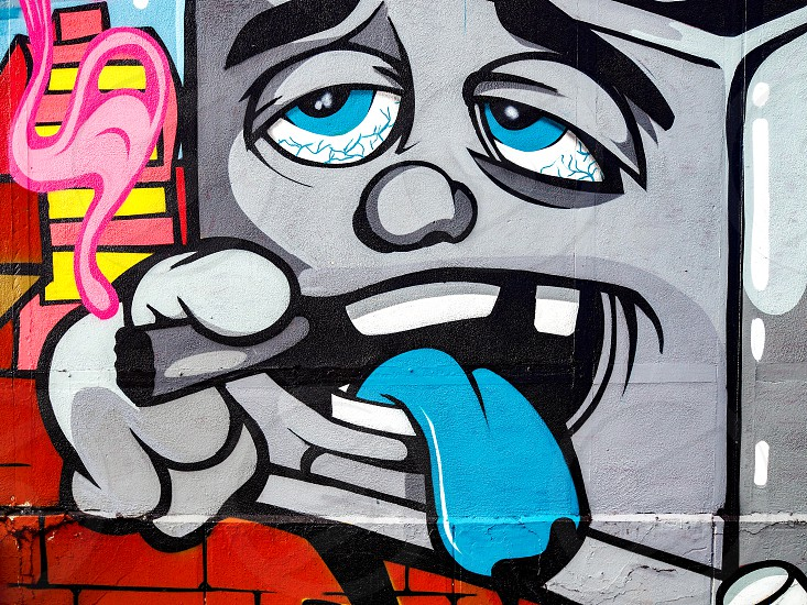 Graffiti on a Wall in Bordeaux photo