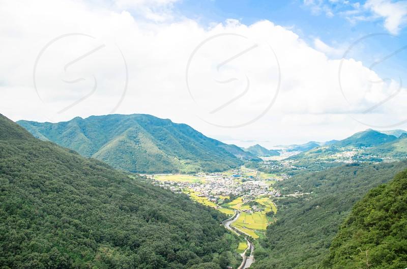 green mountain slope photo
