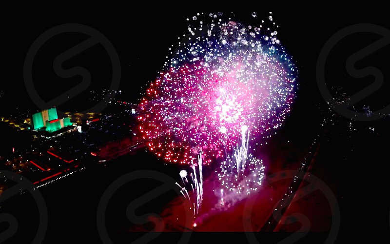 Forth of July Fireworks from the sky.... Have you ever looked down as opposed to looking up? photo