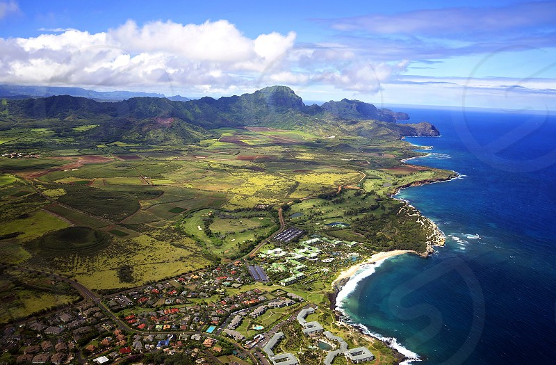 Kauai from the sky photo