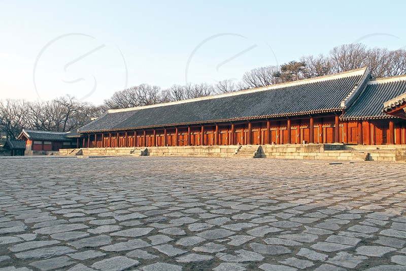 Jongmyo shrine in central Seoul South Korea photo