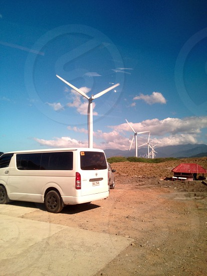 Renting a van for a wonderful visit in Bangui Windmills Ilocos Philippines photo