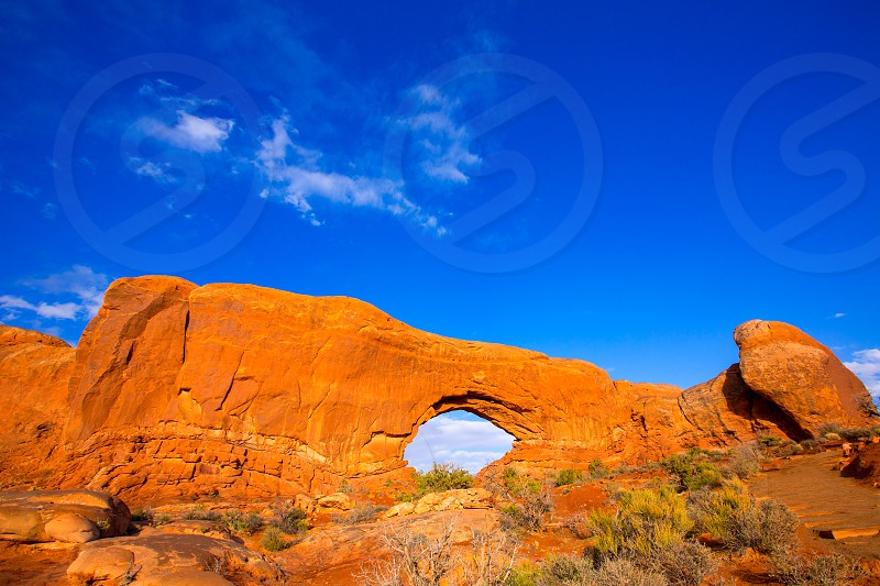 Arches National Park North Window section in Moab Utah USA photo
