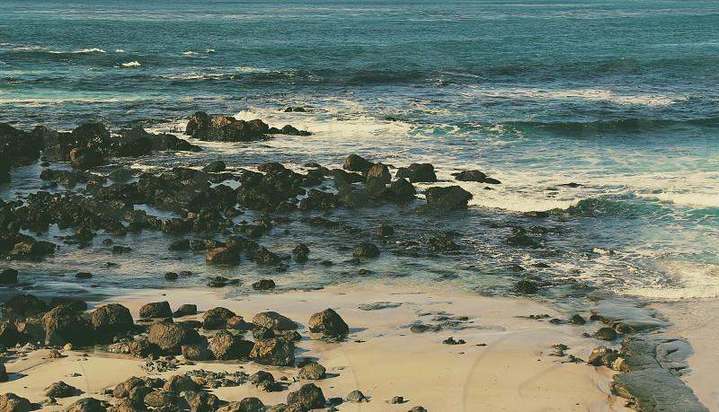 Rocky Coastline in Carmel California photo