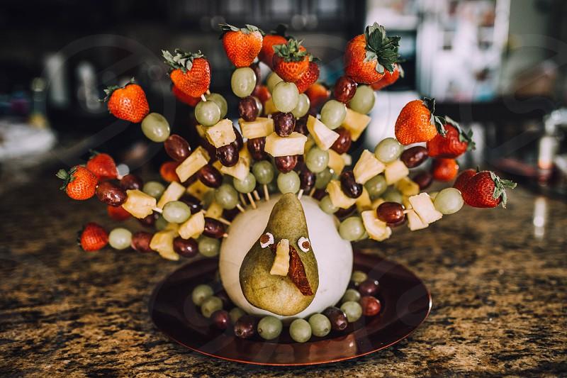 Thanksgiving centerpiece turkey food dessert decoration edible art funny thanksgiving turkey photo