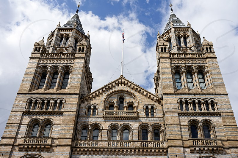 Exterior View of the Natural History Museum in London photo