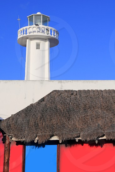 Puerto morelos new lighthouse in Mayan Riviera Mexico photo