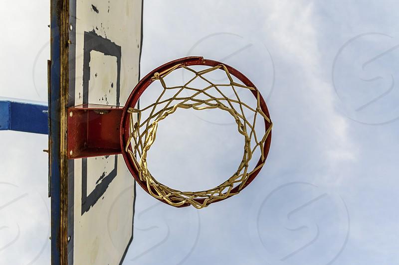 Basketball hoop basketball court photo