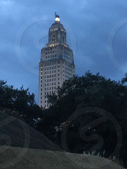 One of the two of Louisiana State Capital photo