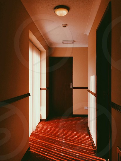 red carpet on a corridor photo
