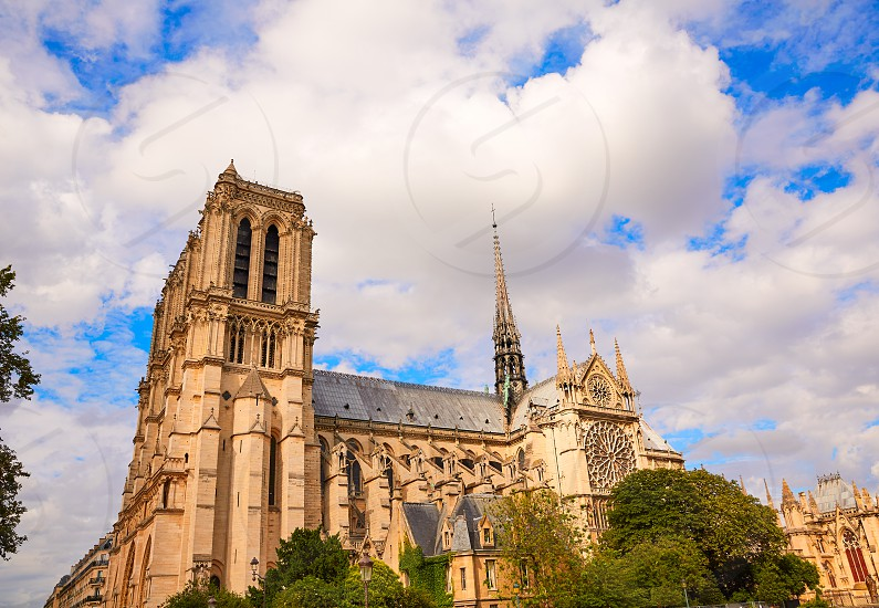 Notre Dame cathedral in Paris France French Gothic architecture photo