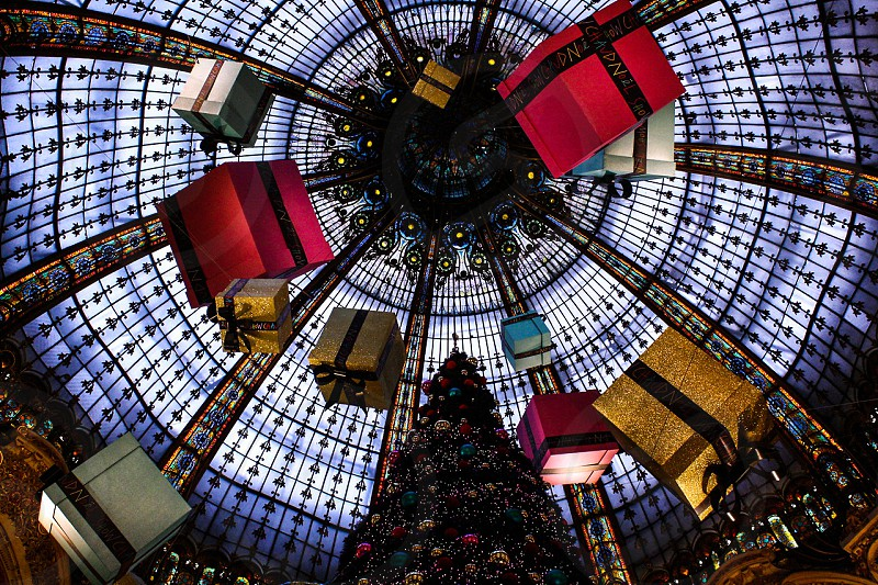 Christmas time in Galeries LaFayette in Paris photo