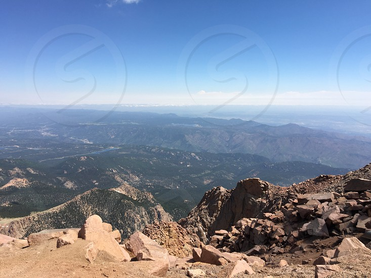 View on top of Pike's Peak in Colorado. photo
