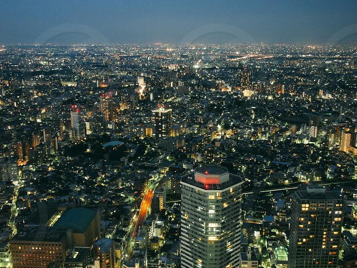 city lights at night photo