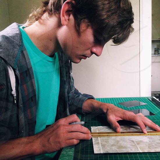 man having sketch photo