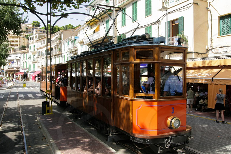 Tranvia de Soller. The local tram in the town of Soller on the island of Majorca photo