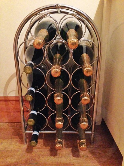 Champagne wine rack photo