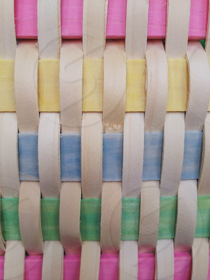 white green and yellow woven textile photo