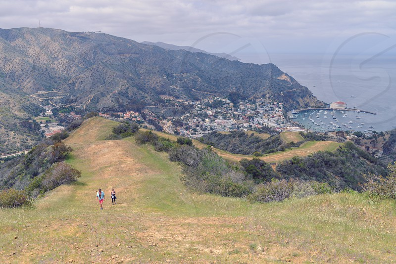 catalina island beach town hike photo